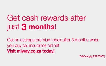 Insure your home online in minutes   visit www.MiWay.co.za